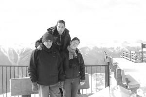 Con Alberto y Fa en Banff