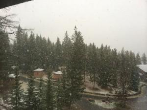 Nieve en Banff