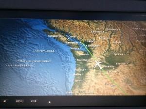 banff mapa avion