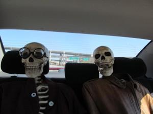 skeleton-in-car